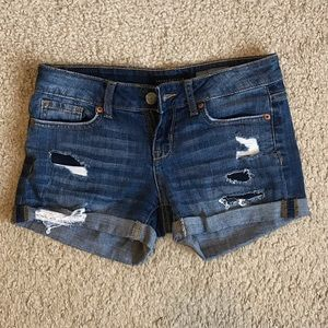 *Aeropostale Ripped Jeans Shorts